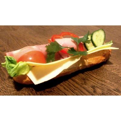 Ost/skinka baguette